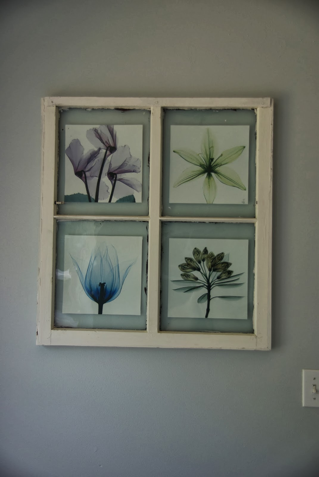turning old window panes into frames • Our House Now a Home