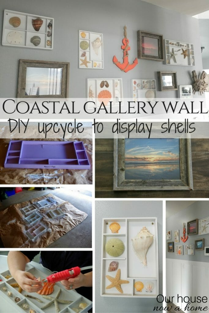 Diy coastal gallery wall easy and low cost upcycle our for Cost to build shell of house