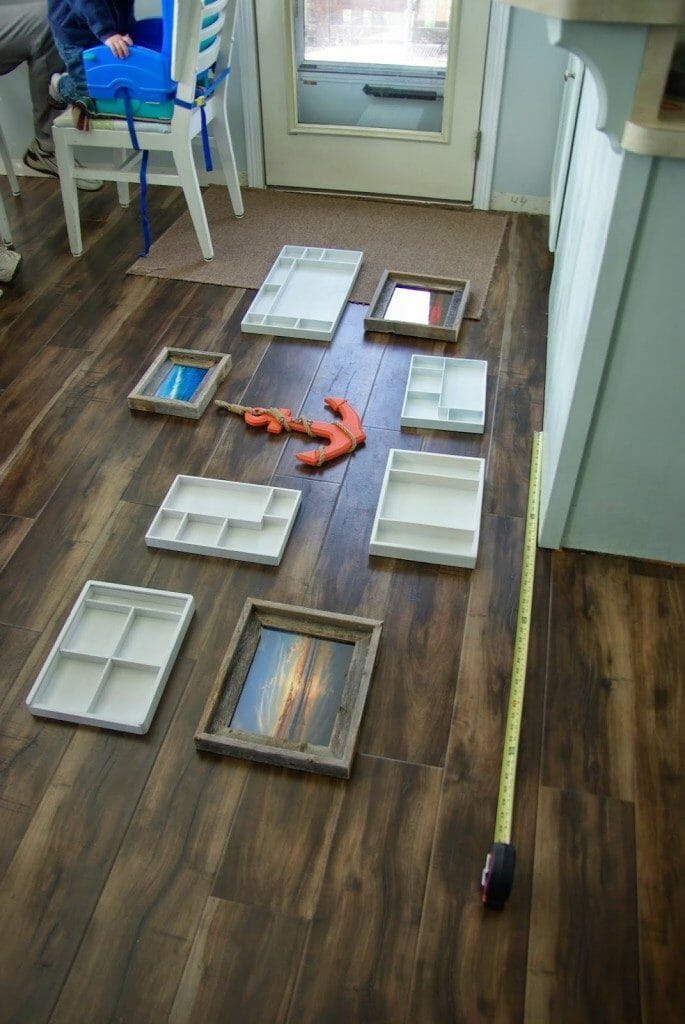 measuring out gallery wall