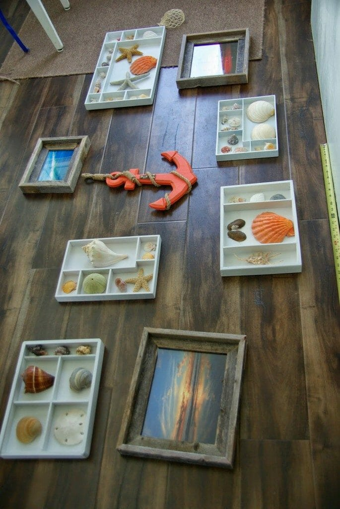 how to organize a gallery wall