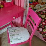 chair redo tutorial, no sewing needed!