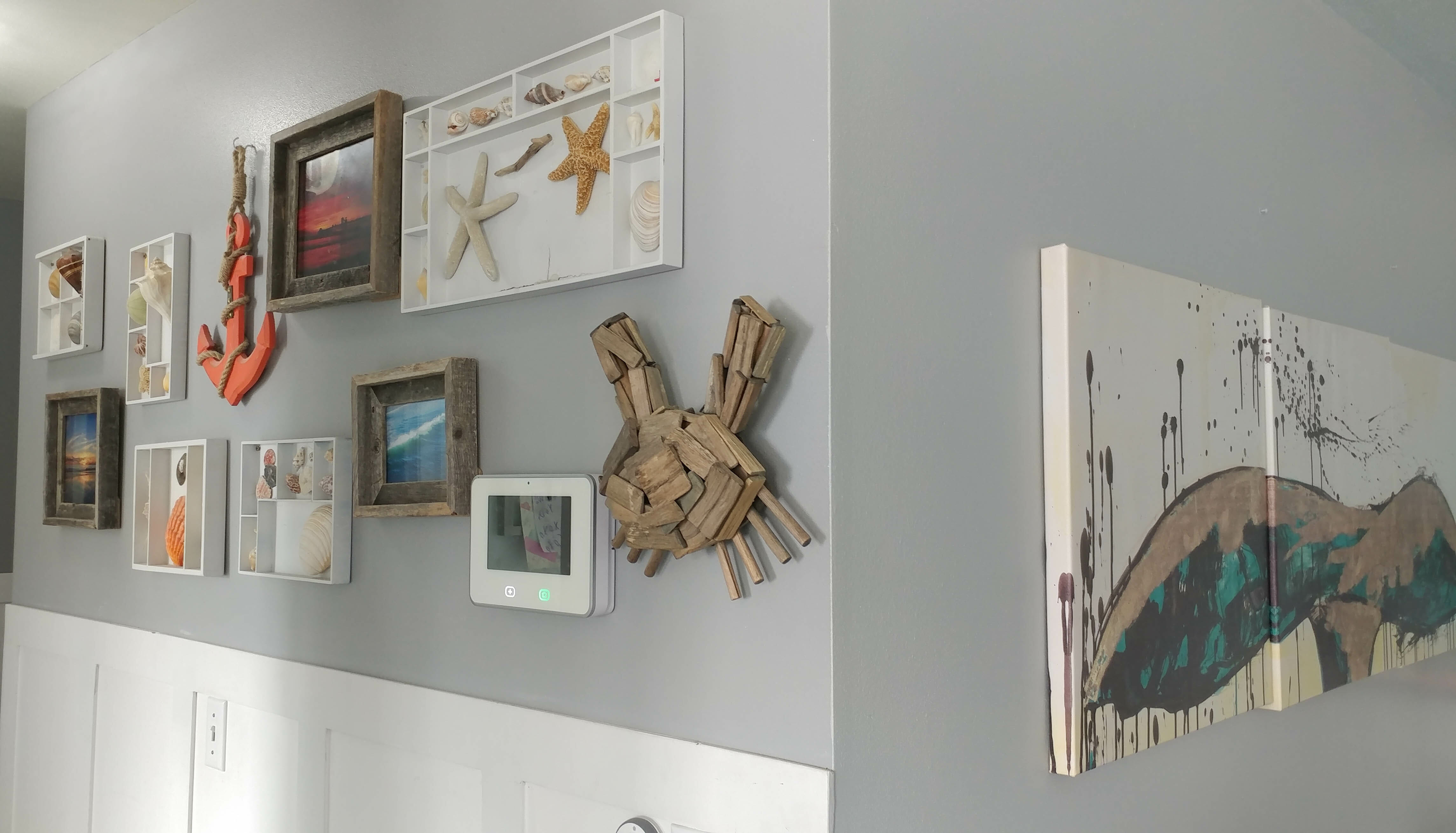 Diy coastal gallery wall easy and low cost upcycle our Low cost wall decor