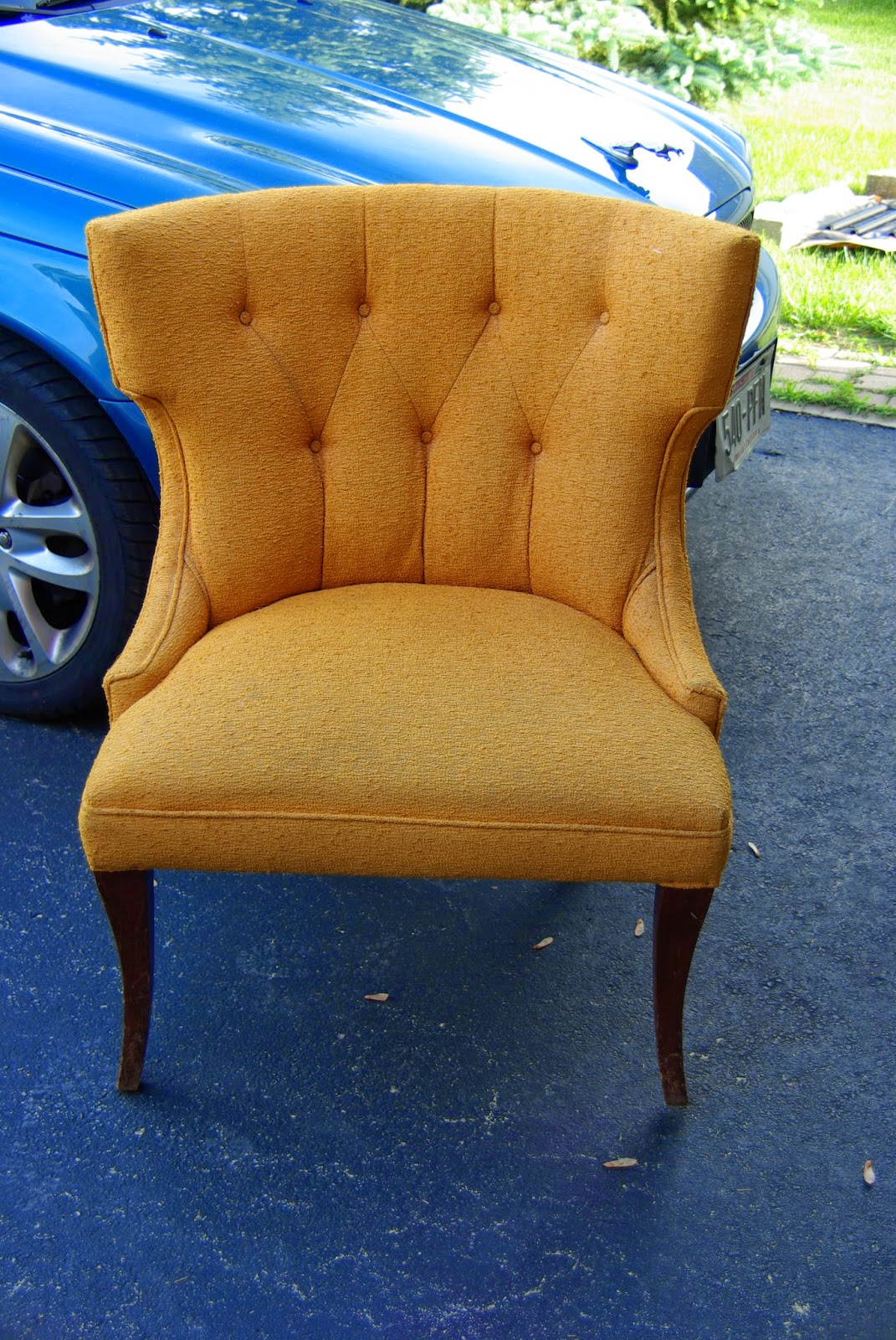 new project, reupholstering chairs