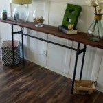 DIY industrial/rustic console table
