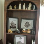 updating a book shelf, no money needed! Just a dust cloth….
