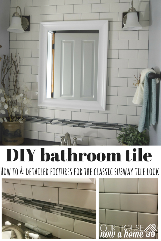DIY bathroom tile tutorial