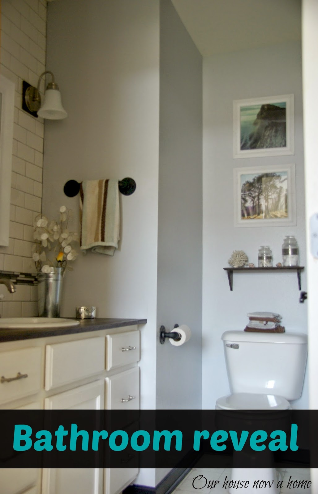 Master Bathroom Reveal: Master Bathroom Reveal • Our House Now A Home