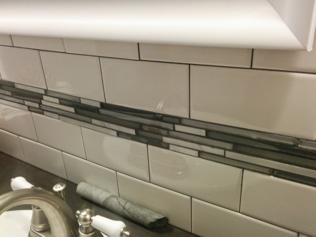 DIY bathroom tile details