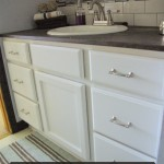 Bathroom cabinet and counter top redo