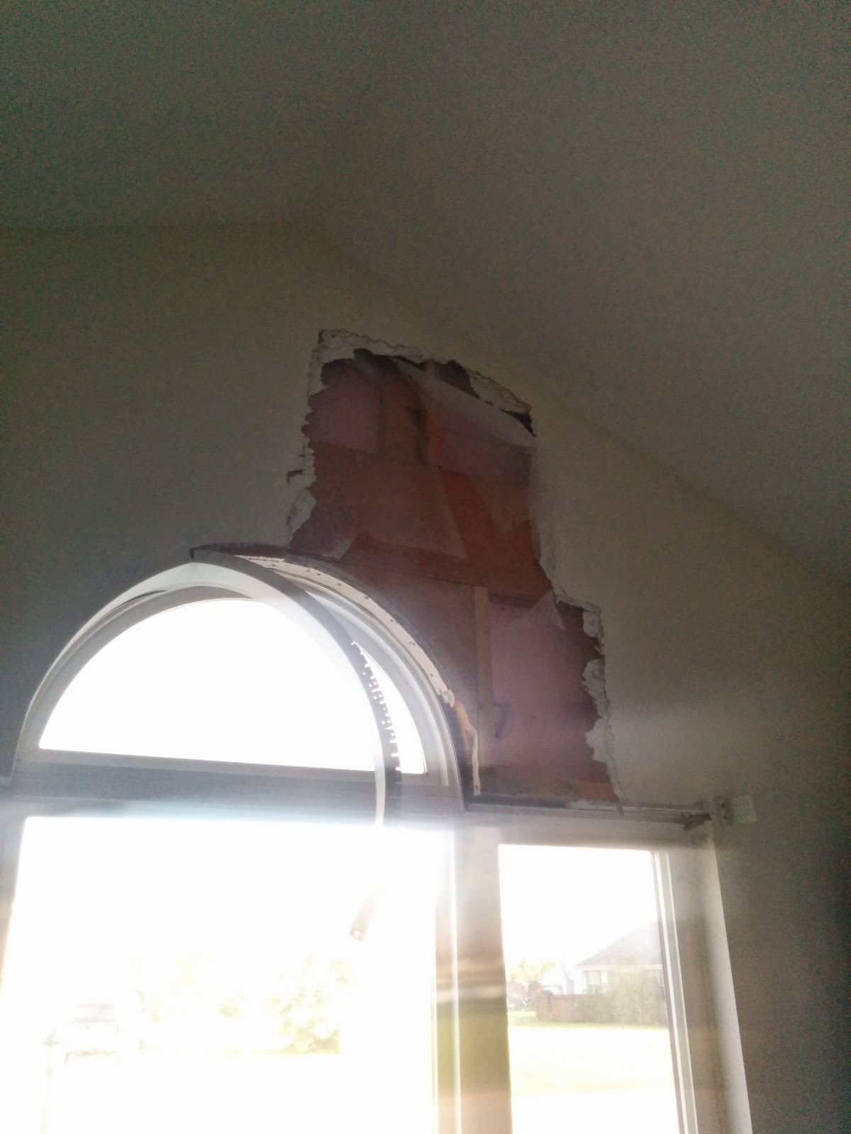 …And then I had a hole in my wall….