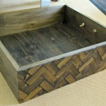 DIY herringbone box