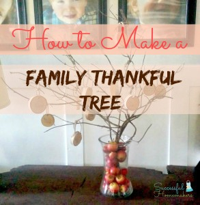Family thankful tree, Successful Homemakers contributing article