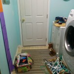 The laundry room overhaul begins