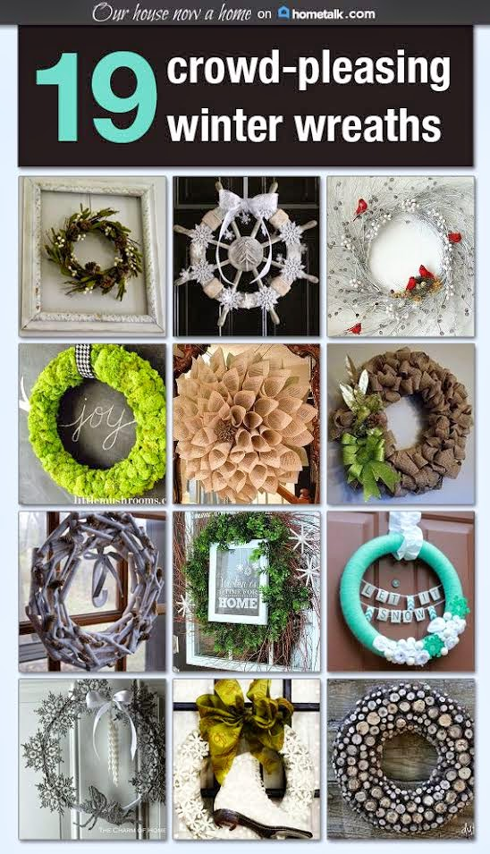 Hometalk idea board, winter wreath