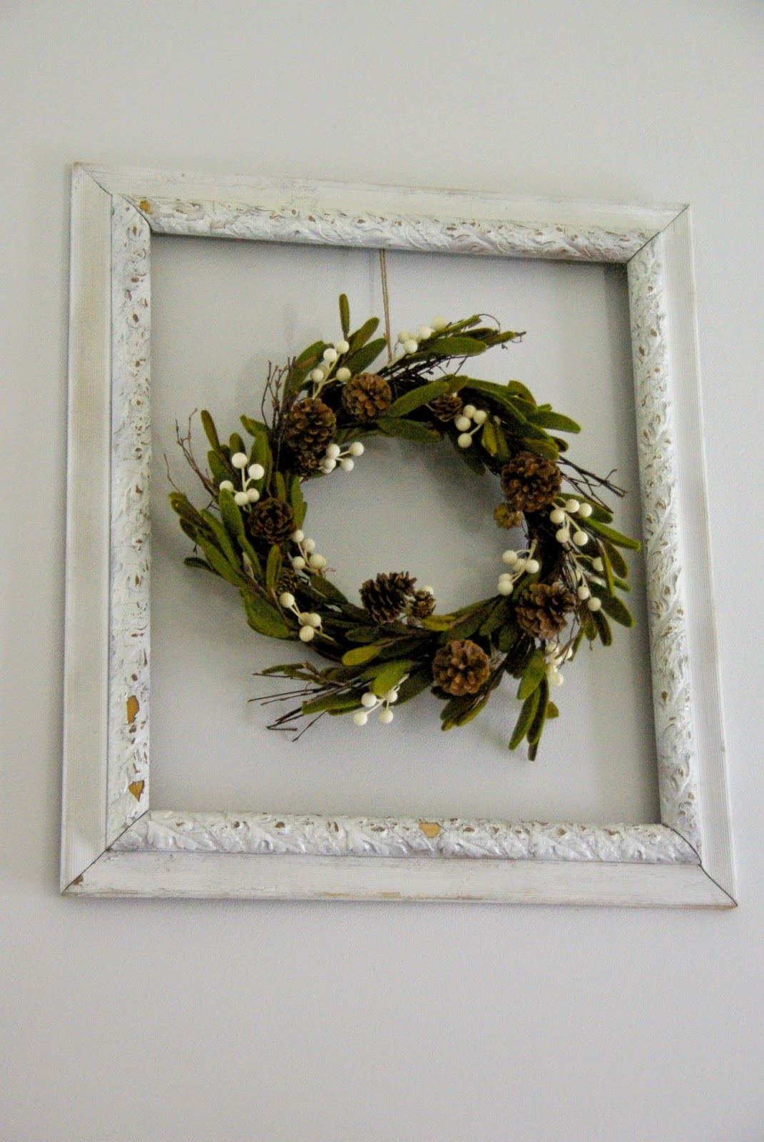 Winter framed wreath