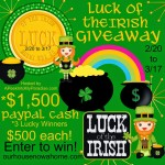 Luck of the Irish cash giveaway