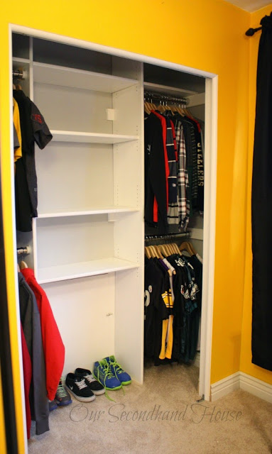 Our Secondhand House: DIY Custom Closet to Maximize Space