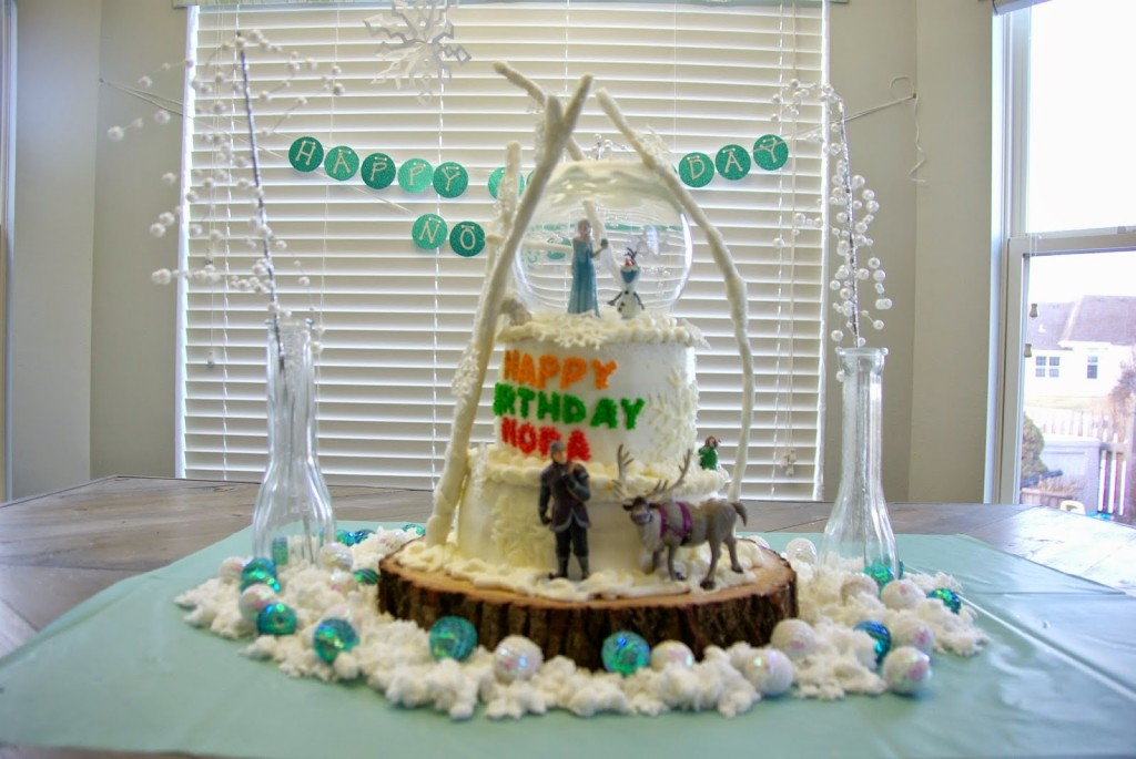 Amazing Disney Frozen birthday cake Our House Now a Home