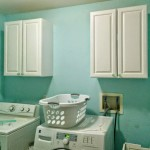 How to install upper cabinets, the laundry room is officially a construction zone!