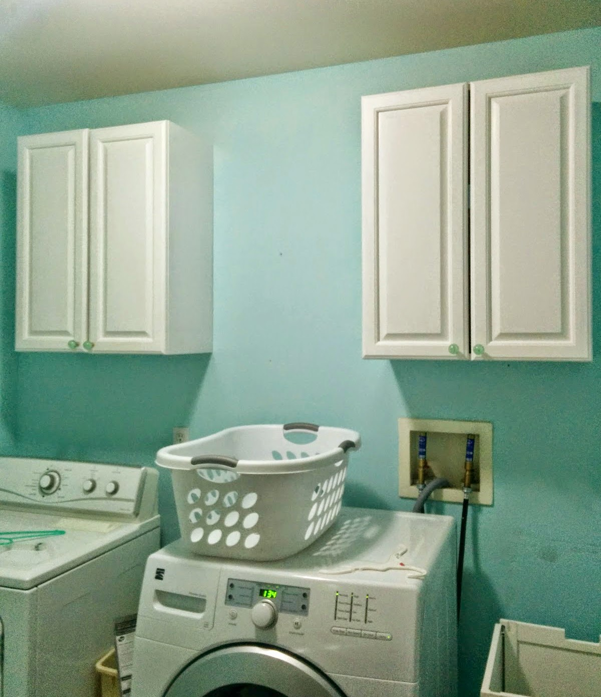 How To Install Upper Cabinets The Laundry Room Is Officially A Construction Zone