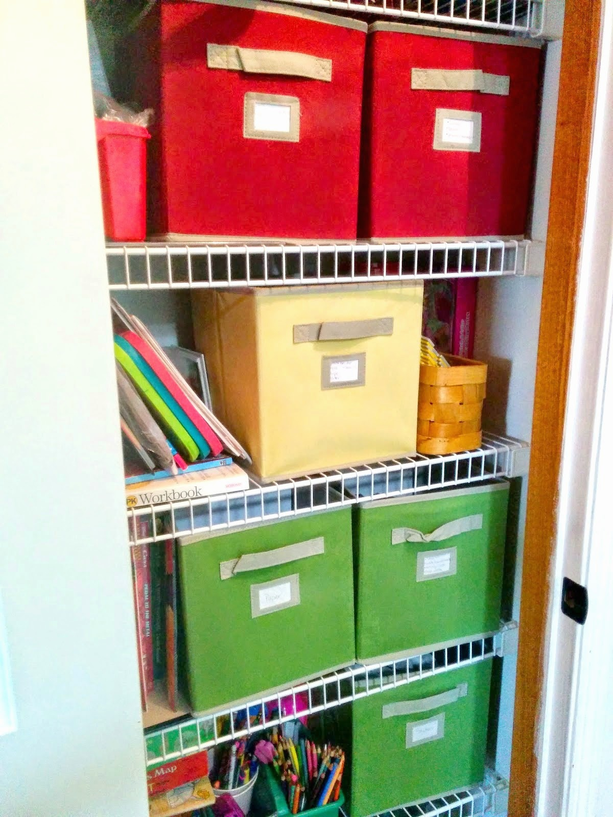 Art closet organization, take 2