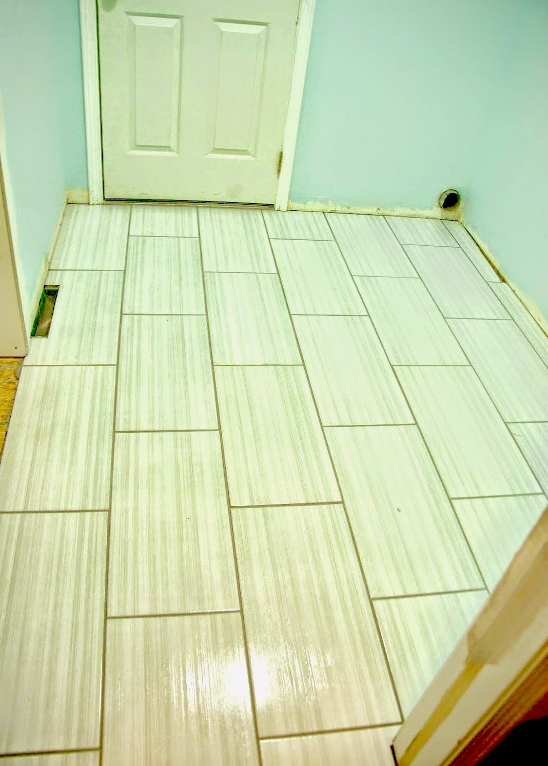 Tiling the laundry room