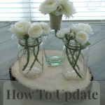 How to update a vase, contributing at Adventures of the Mommy homemaker