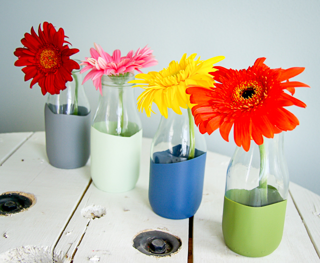 DIY paint dipped vase
