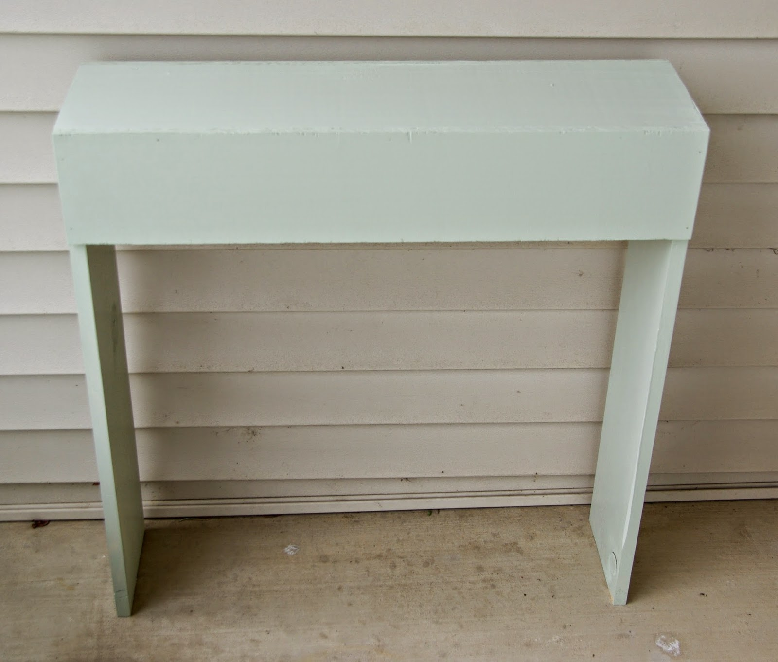 Front porch simple console table