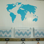 World map wall decal, more additions to the organization station