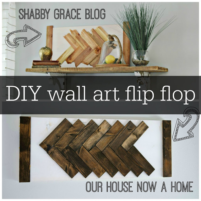 Diy wall art flip flop our house now a home for What does it mean to flip a house