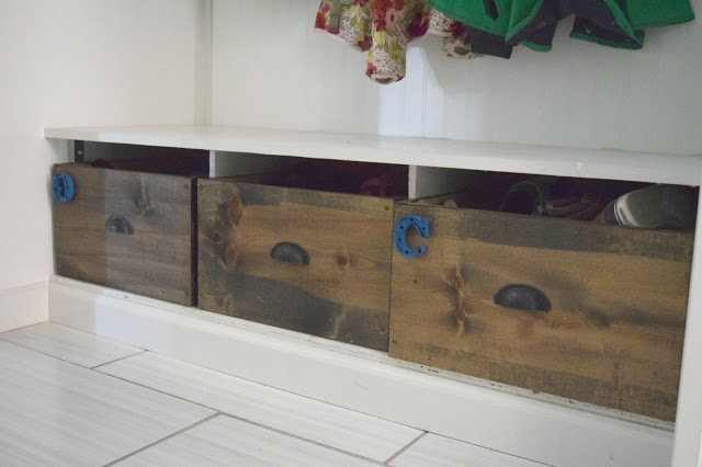 DIY wood shoe box organizer