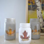 Leaf mason jar project, how to add some fall