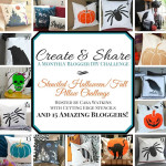 October create and share, spider pillow with cutting edge stencil