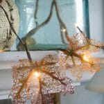 How to make a fall leaf garland with twinkle lights