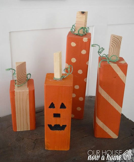 DIY square pumpkins