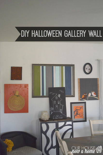 DIY Halloween gallery wall reveal