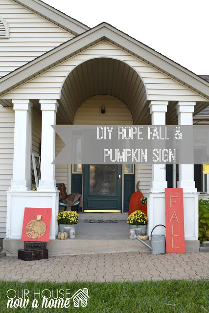 diy rope fall sign