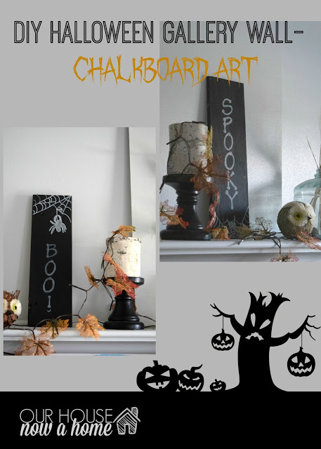 DIY Halloween gallery wall- part 1