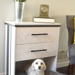 IKEA Rast dresser hack- dresser into dog bed