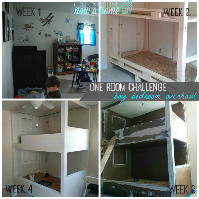 One room challenge, Week 4- starting to see progress!