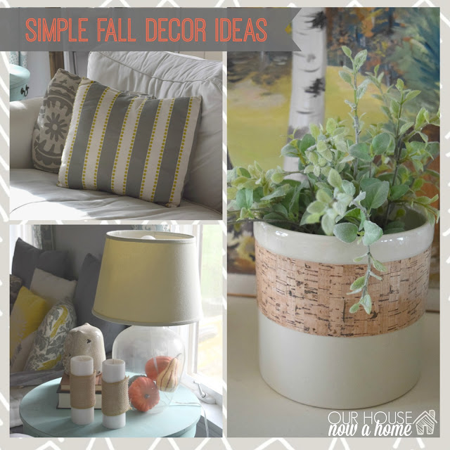 Simple fall decor ideas