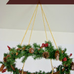 My favorite project from last year- a Christmas hanging wreath