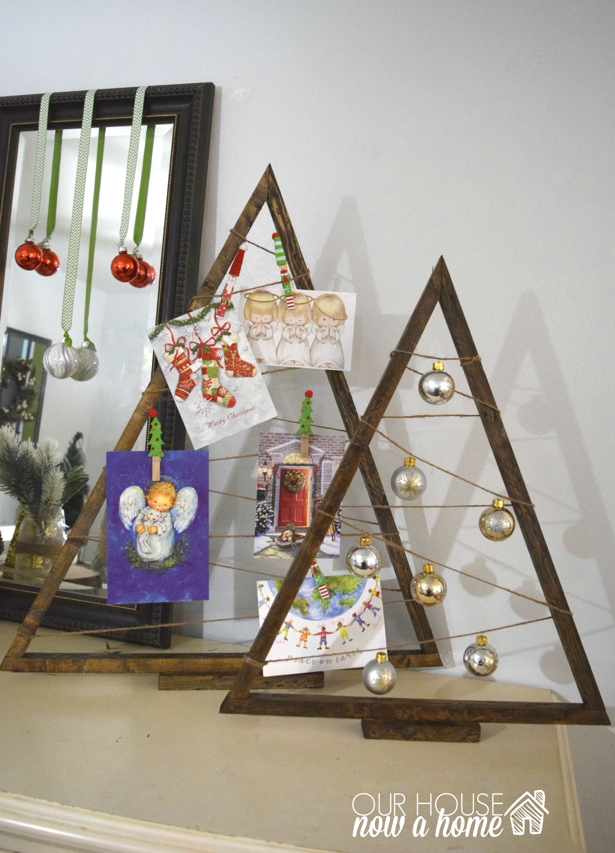 DIY Christmas Tree Wood Frame With WM