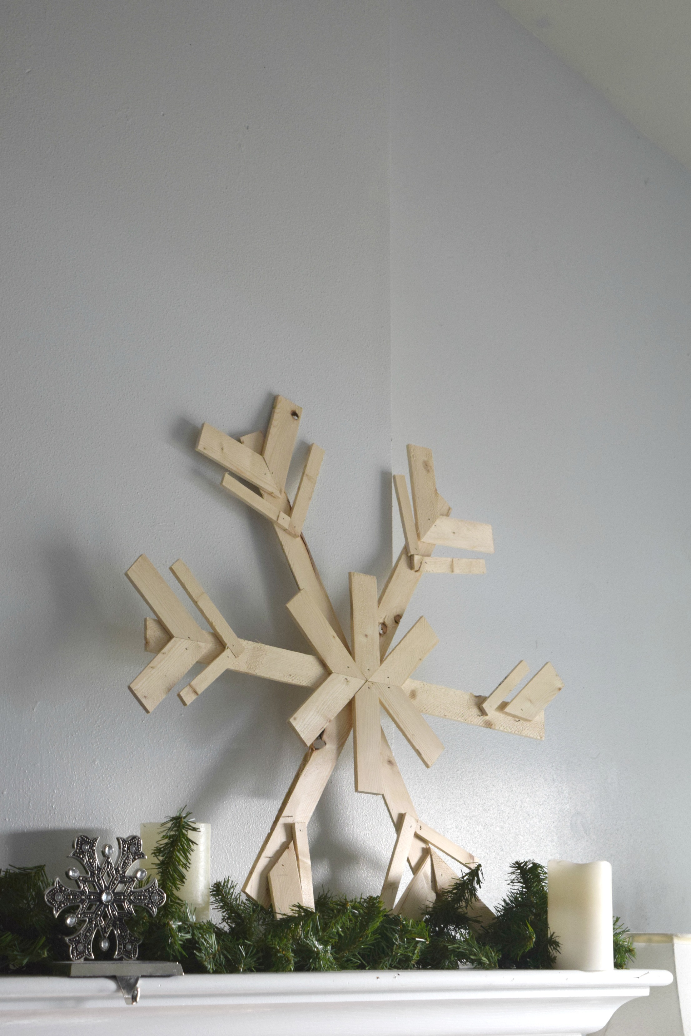 DIY wood snowflakes