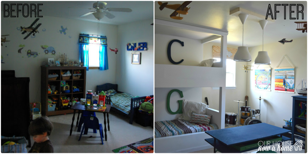 boy bedroom idea before and after