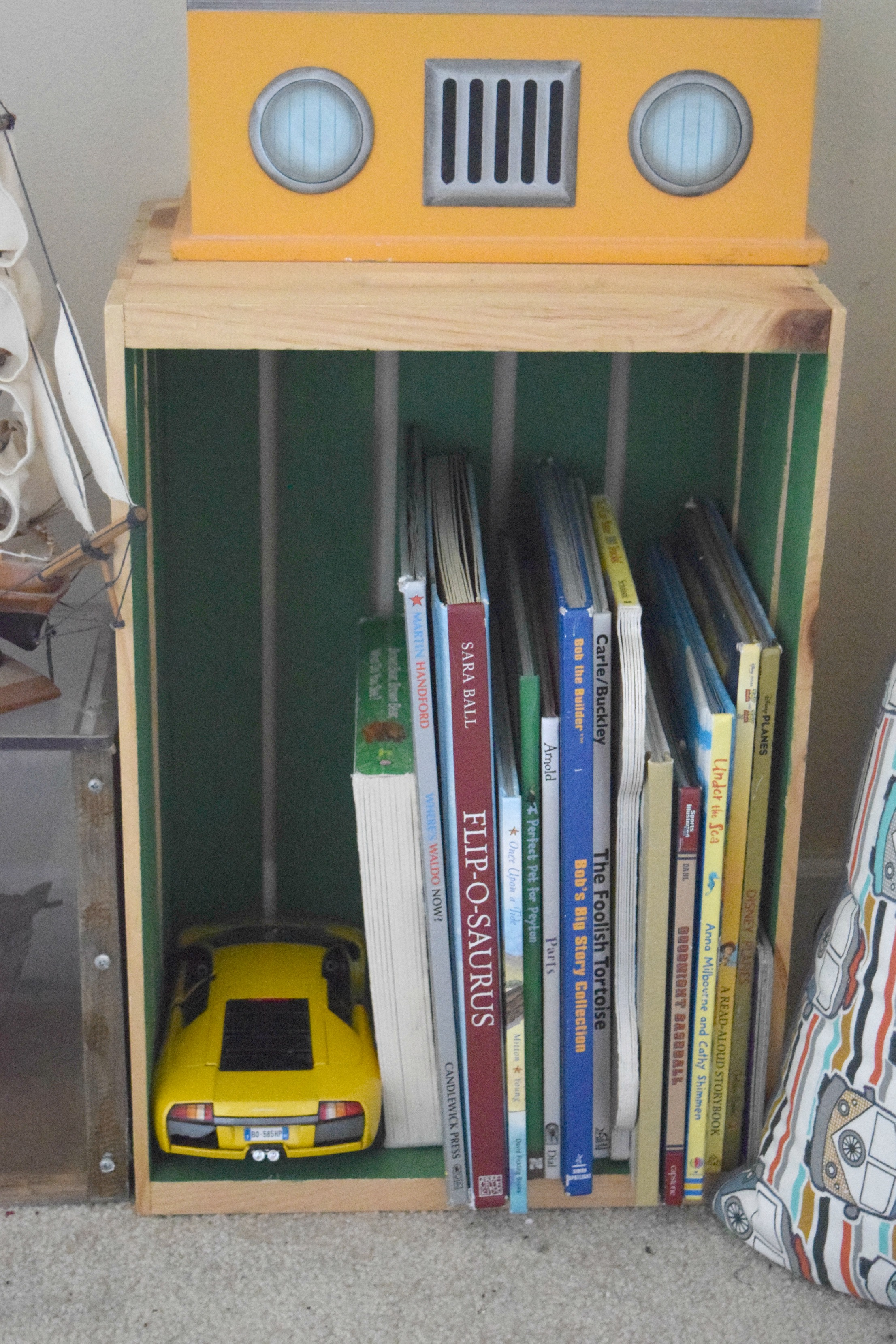 crates for book storage