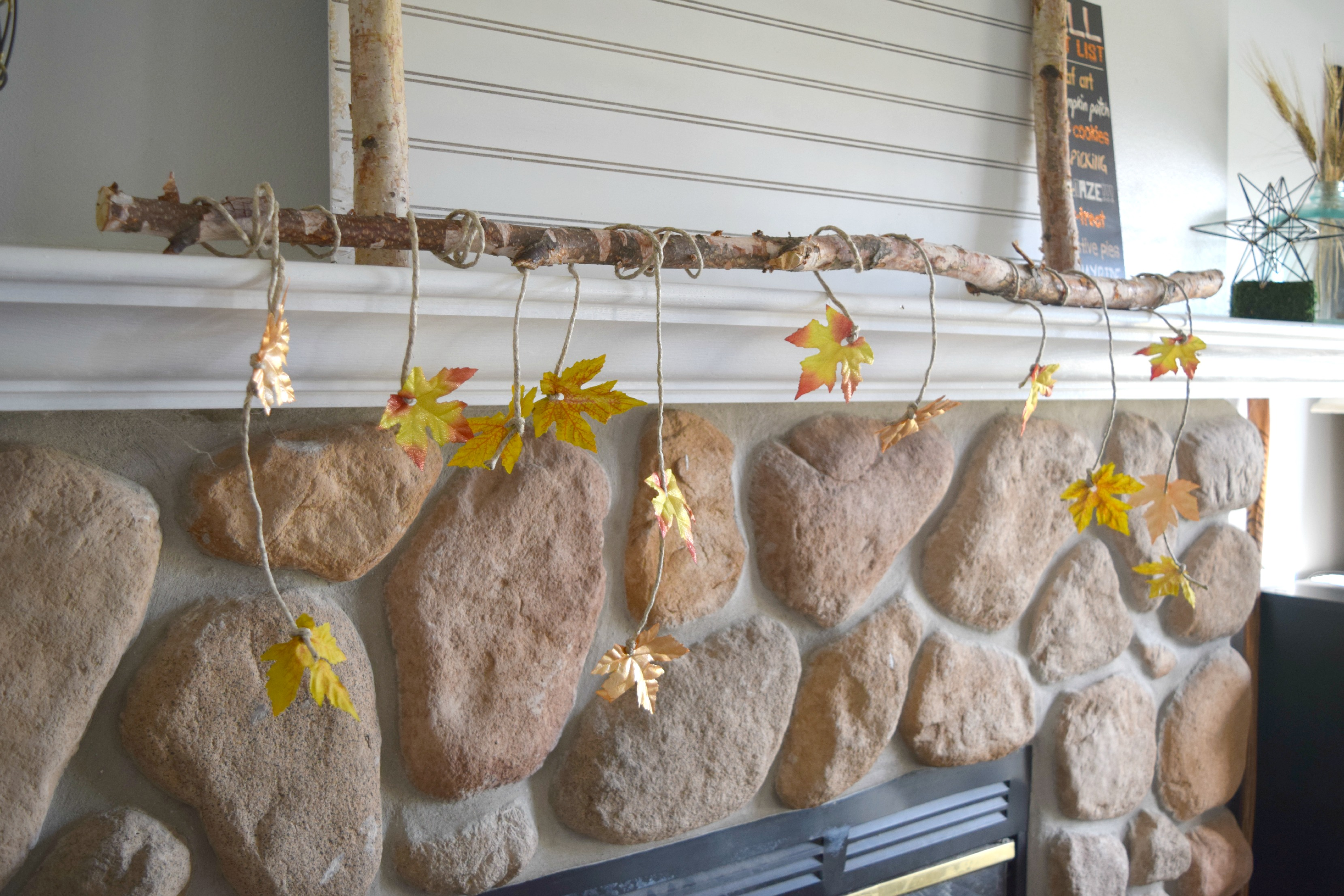 decorating with sticks for fall