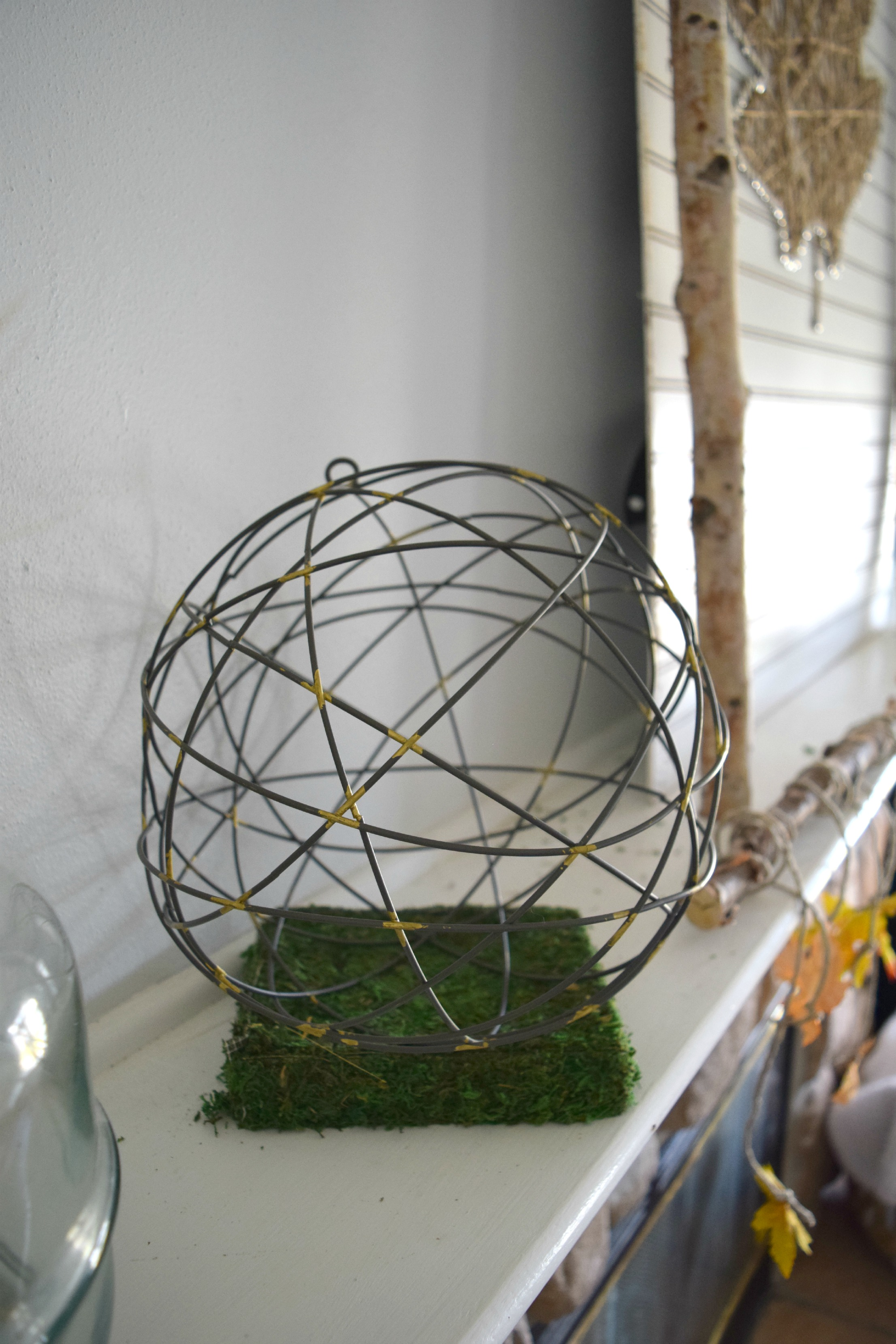 metal orb in home decor