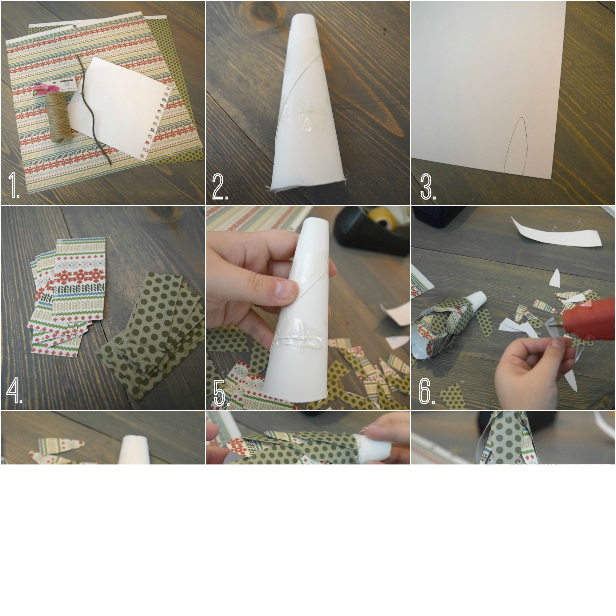 paper tree ornament tutorial with steps